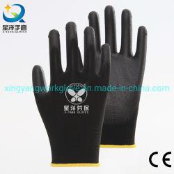 En388 4131X 13G полиэстер гильзу с PU покрытием безопасности рабочие перчатки с маркировкой CE сертифицирована
