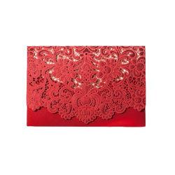 Het rustieke Huwelijk levert de Rode Witte Uitstekende Elegante Kaart van de Uitnodiging van het Huwelijk