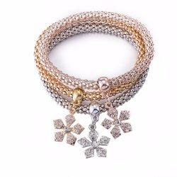 2017 Fashion Alliage de zinc plaqué or Bracelet à breloque Bracelet définit la promotion