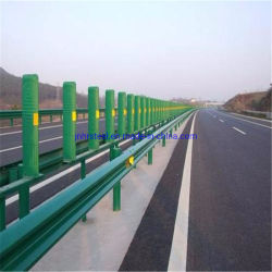 Professionnels de la route de rambardes en acier galvanisé peint ondulé, Q235