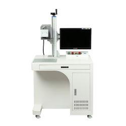 50W 휴대용 컬러 귀금속 섬유 레이저 마킹 기계 CNC 인그레이빙 금속 절단 플라스틱 3D 로고 골드 체인 번호판 Galvo YAG Subsurface Printing