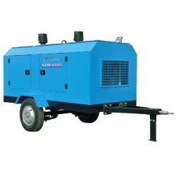 97kw SDP350G Dieselgetriebener tragbarer Schraubenluftverdichter für Bohren, Sandstrahlen industrielle Verwendung