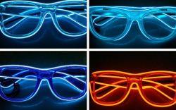 Aquat jusqu'à la lumière néon allumé el Fil électroluminescent lunettes LED