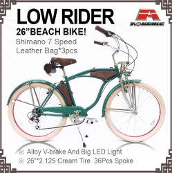 Sac de cuir Beach Cruiser vélo Lowrider 7 vitesse