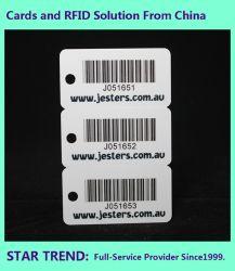 El PVC/PET/papel de la tarjeta de código de barras impresión CMYK personalizado