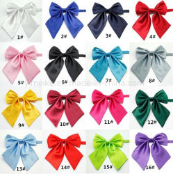 Le satin de soie couleur pure formelle Neckerchief Womens le filtre Bow Tie