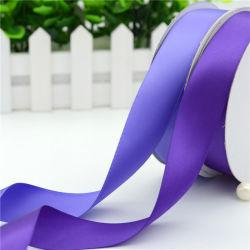 Ruban de satin double face en polyester avec du papier Core