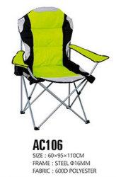 En el exterior del brazo de la almohadilla de plegable Silla de camping
