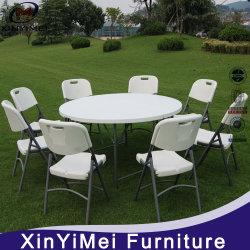 Muebles de exterior jardín mesa de comedor plegable de plástico para el evento