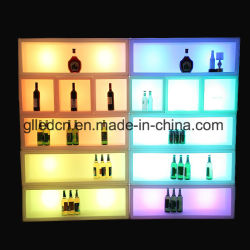 LED impermeable de Plástico Reutilizables de estante de vino de cubitos de hielo