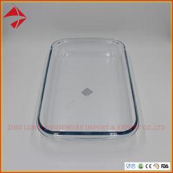 مستطيل شكل تحميص طبق زجاجيّة [بكينغ بن] قالب طبق فسحة زجاجيّة خبز رغيف [بكينغ بن]