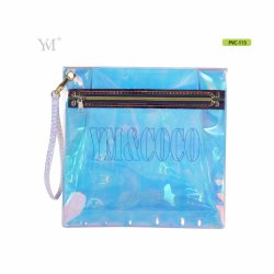 Индивидуальные уникальные косметические мешки, голографической молнией ПВХ сумка для косметики