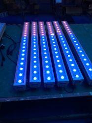 LED de Cores de preço de fábrica 18 3W RGBW 4 em 1 Barra de lava na parede para decoração do Alojamento