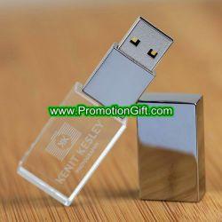 투명한 결정 USB 섬광 드라이브