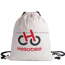 カスタム昇進の有機性自然なドローストリングの綿のキャンバスの布のワイン袋