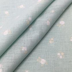 55%Linen45%Cotton Reactive Screen Printing Fabric voor Fashion Dresses en T Shirts 2068#