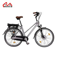 Серый город 250 Вт электрический велосипед с задней стойки E велосипед