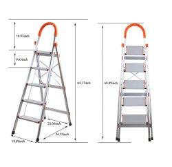 Tragbares Folding aus Aluminiumlegierung, 5 Stufen, mit Einer Kapazität von 330 lb, Heimleiter