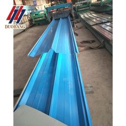 Prédio de papelão ondulado de material de construção cor metálica revestida de aço Ferro Tecto