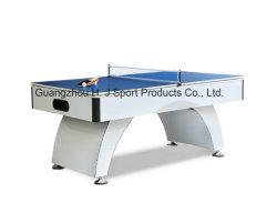 31上および卓球の上の食事を用いる白いプールのビリヤード台