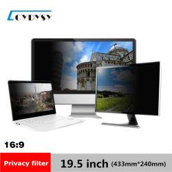 """19.5"""" o Filtro de privacidade Filme Protetor de tela LCD de ecrã panorâmico 16: 9 computador 433mm*240mm"""