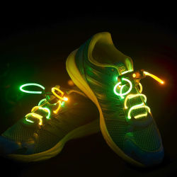 La lumière vers le haut LED lacets Parti flash disco des chaînes de chaussures