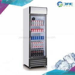 Dispositivo di raffreddamento di vetro verticale dritto commerciale della bevanda del portello del singolo portello