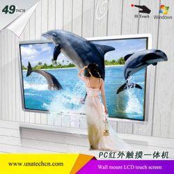 video visualizzazioni di tocco dello schermo del modulo di IR 4K della rete via cavo dell'affissione a cristalli liquidi TV WiFi di Digitahi LED del supporto dell'interno della parete 49inch