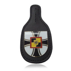 Distintivo di cuoio di Pin di metallo di identificazione dell'unità di elaborazione di Pin del risvolto su ordinazione dello smalto dell'OEM per i vestiti degli uomini