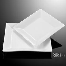 Hot Vente de la plaque de pâtes alimentaires durables pour l'Hôtel Restaurant/Home/