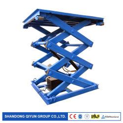 Qiyun AC 110V 220V 380V Alimentation commande à distance de l'équipement de levage hydraulique fixe de type ciseaux Gtjz antenne plate-forme de travail avec la CE