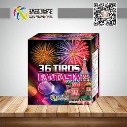 Torta esterna diritta dei fuochi d'artificio della fontana del consumatore della fantasia all'ingrosso di 0.8inch 36shots