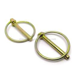 DIN 11023 مسمار قفل الأسلاك المُبلطش باستخدام الزنك الفولاذي حلقة دائرية