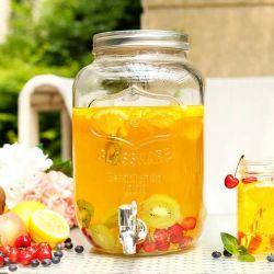 8L Distributeur de verre de jus de verre sans plomb Jar avec robinet
