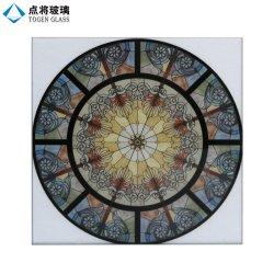 Китай современный дизайн живопись схемы цифровой печати из витражного стекла для церкви