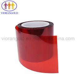 25UM/36UM/50UM/75UM/100UM/125UM Transparent/PET bleu/rouge du Film de protection avec adhésif silicone/acrylique pour la protection de l'écran pad