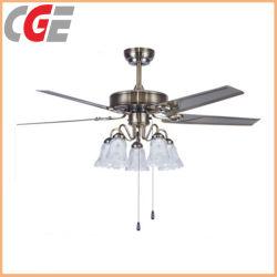Nuovo Ce industriale RoHS dell'indicatore luminoso del ventilatore di soffitto del ventilatore di soffitto di disegno del ventilatore elettrico indicatore luminoso del ventilatore di soffitto del motore da 48/52 di pollice AC85-265V con l'indicatore luminoso decorativo del ventilatore di soffitto della lampadina