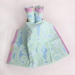 Motif de la mer OEM Fibre de bambou Serviette de toilette pour bébé et les adultes peuvent être traités de l'agent de marque