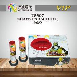 T5507-2dias de para-quedas com o queimador China pára-quedas de multiplicação de Fábrica de Brinquedos Fuegos Artificiales Diurna fogos de artifício