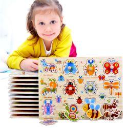 Los niños de madera Juguete Educativo Cartoon Puzzle colores geométrica de los animales