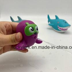 O PVC maleável derramaram água escapa Bathtoy brinquedos para crianças