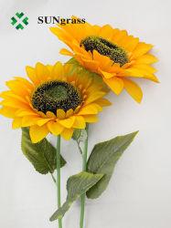 Girasol artificiales de tela de seda hecha a mano de bricolaje cabezales de Flor de espuma de flores decoración de bodas Jardín de Flores Corona pétalos