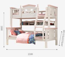 Краткий дизайн цельной древесины детей кровать двухъярусная кровать с современными