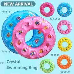 Venta de toda la piscina de verano flotador inflable Milti Círculo de plástico de color anillos de natación de cristal