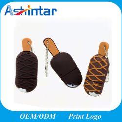 아이스크림 PVC USB 기억 장치 지팡이 만화 USB 섬광 드라이브