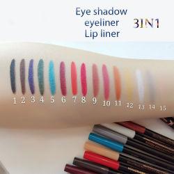 15 couleurs Eyeliner Fard mat colorés de stylo plume non étanches Blooming Eyeliner maquillage