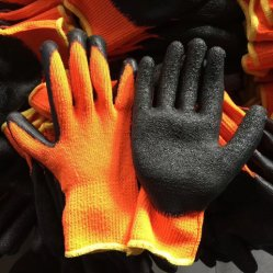 Segure o revestimento de látex camisa velo polar Inverno luvas de trabalho de segurança exterior