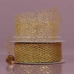 파티 패킹이 가능한 다이아몬드 네트 메탈릭 리본