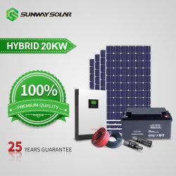 Sunway fuera de la Red del Sistema Solar20KW WiFi Precio Planta de Energía Solar