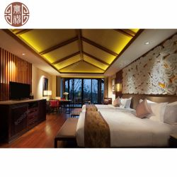 동남아시아 스타일의 솔리드 우드 호텔 침실 가구
